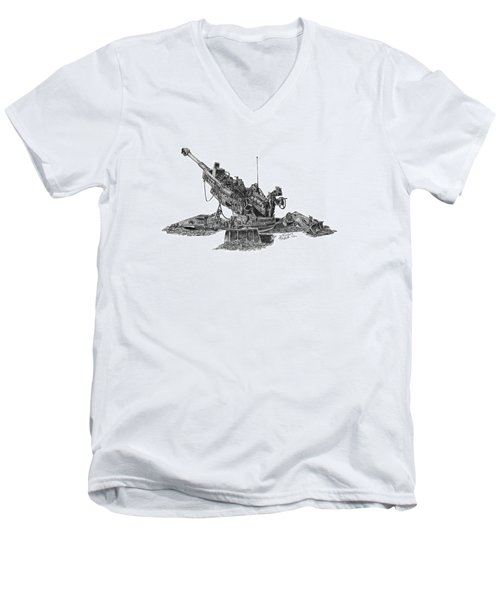 M777a1 Howitzer Men's V-Neck T-Shirt