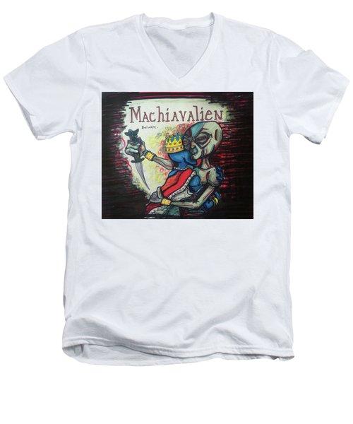 Machiavalien Men's V-Neck T-Shirt