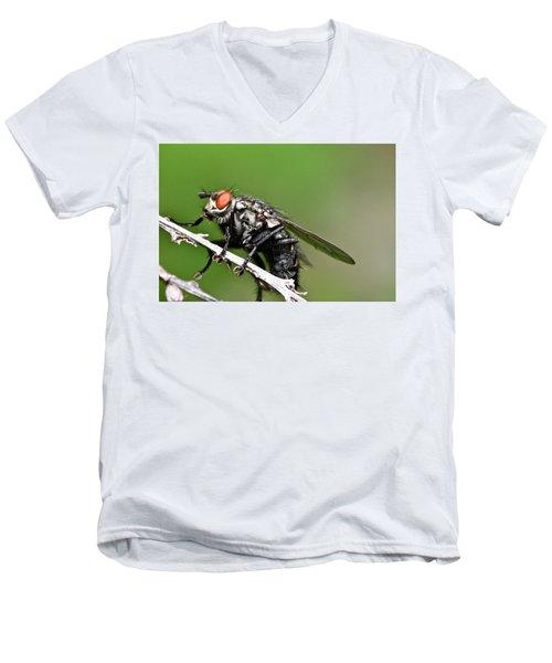 Macro Fly Men's V-Neck T-Shirt