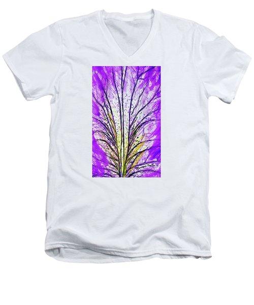 Macro Iris Petal Men's V-Neck T-Shirt