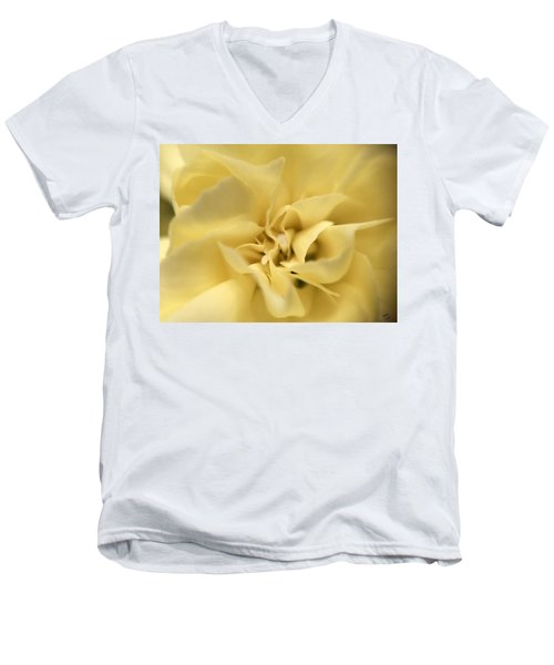 Macro Yellow Rose Men's V-Neck T-Shirt