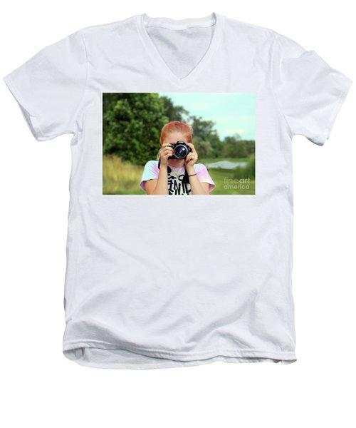 Maddie Ama Men's V-Neck T-Shirt