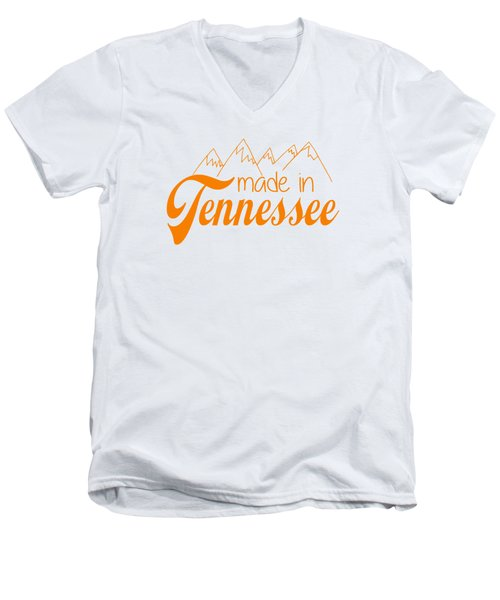 Made In Tennessee Orange Men's V-Neck T-Shirt by Heather Applegate