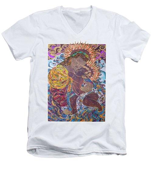 Madonna And Child The Sacred And Profane Men's V-Neck T-Shirt