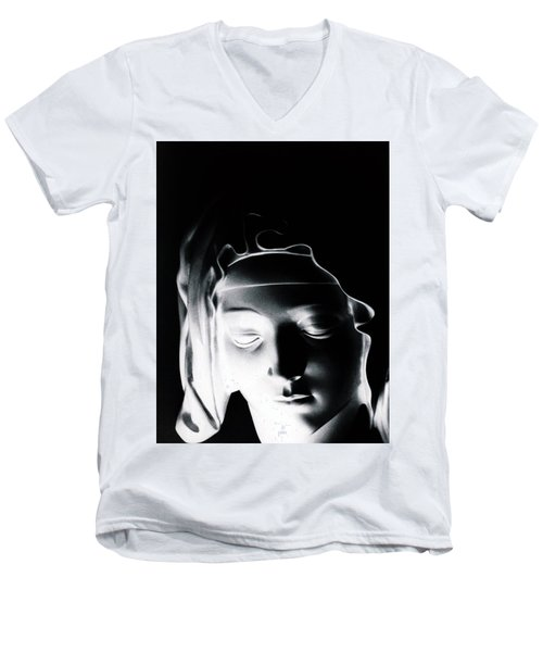 Madonna Men's V-Neck T-Shirt by Joseph Frank Baraba