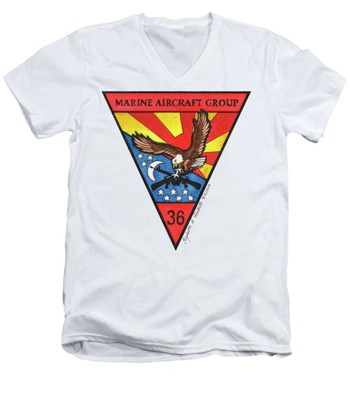 Mag-36 Patch Men's V-Neck T-Shirt
