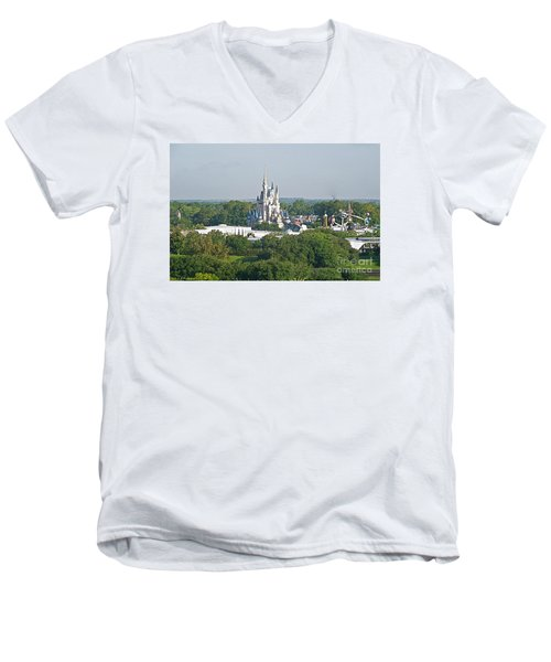 Magic Kingdom Men's V-Neck T-Shirt by Carol  Bradley