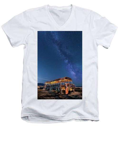 Magic Milky Way Bus Men's V-Neck T-Shirt