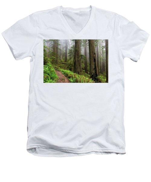 Magical Forest Men's V-Neck T-Shirt by Scott Warner