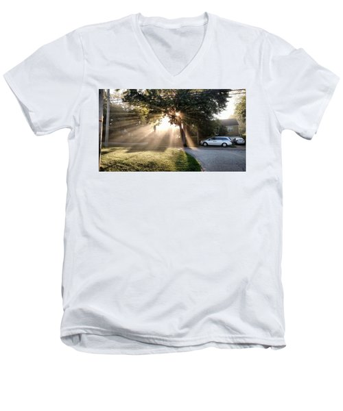 Men's V-Neck T-Shirt featuring the painting Magical Morning by James Guentner