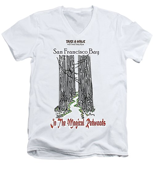 Magical Redwoods  Men's V-Neck T-Shirt