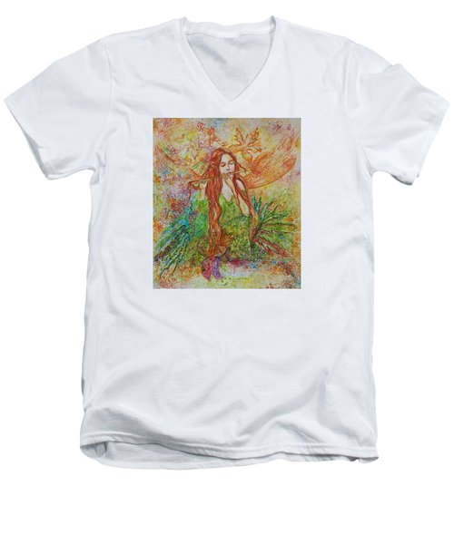 Magical Song Of Autumn Men's V-Neck T-Shirt