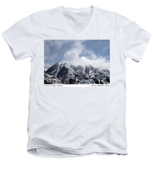 Men's V-Neck T-Shirt featuring the photograph Magnificent Mountains In Telluride In Colorado by Carol M Highsmith