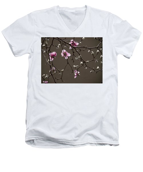 Men's V-Neck T-Shirt featuring the photograph Magnolias In Bloom by Rob Amend