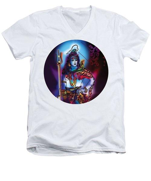 Maheshvara Shiva Men's V-Neck T-Shirt