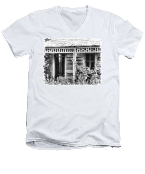 Men's V-Neck T-Shirt featuring the photograph Maiden History 2 by Susan Kinney