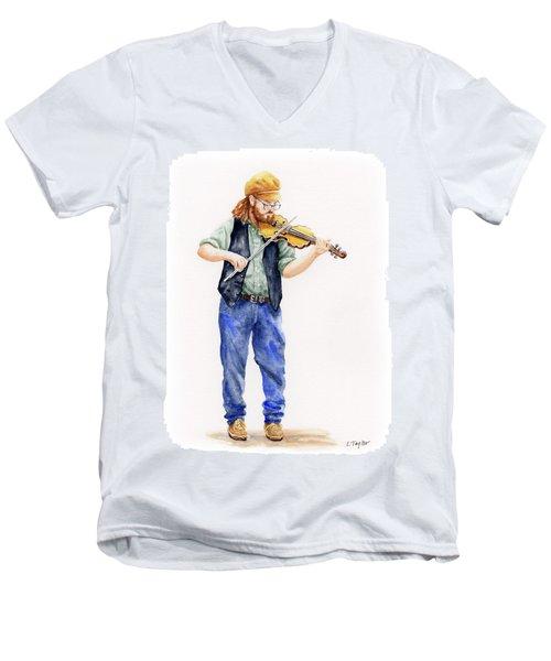 Main Street Minstrel 1 Men's V-Neck T-Shirt