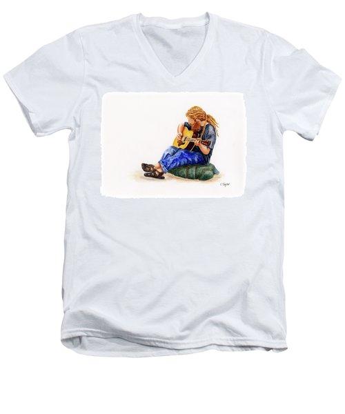 Main Street Minstrel 2 Men's V-Neck T-Shirt
