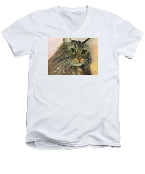 Maine Coon Cat Men's V-Neck T-Shirt