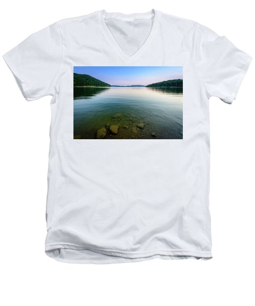 Majestic Lake Men's V-Neck T-Shirt