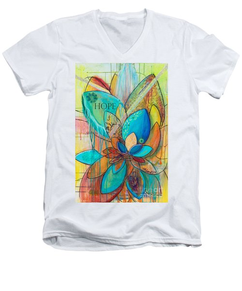Spirit Lotus With Hope Men's V-Neck T-Shirt