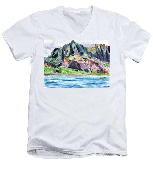 Majestic Na Pali Coast Men's V-Neck T-Shirt
