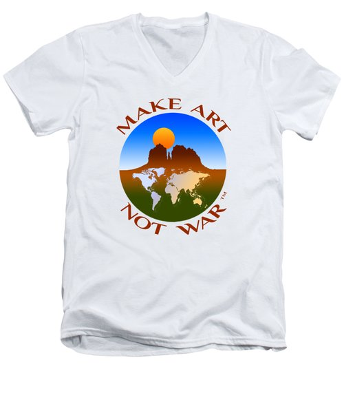 Make Art Not War Logo Men's V-Neck T-Shirt