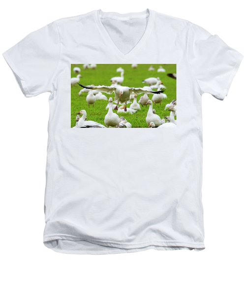 Men's V-Neck T-Shirt featuring the photograph Make Room by Mike Dawson
