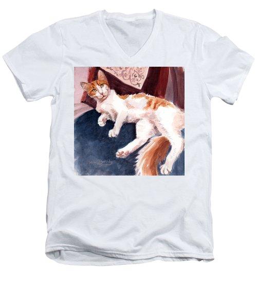 make yourself at home - Mr Fox Men's V-Neck T-Shirt