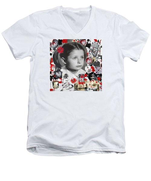 Mala Men's V-Neck T-Shirt by Sladjana Lazarevic