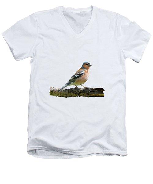 Male Chaffinch, Transparent Background Men's V-Neck T-Shirt