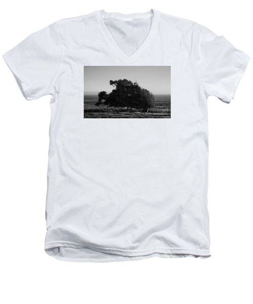 Men's V-Neck T-Shirt featuring the photograph Malformed Treeline by Clayton Bruster
