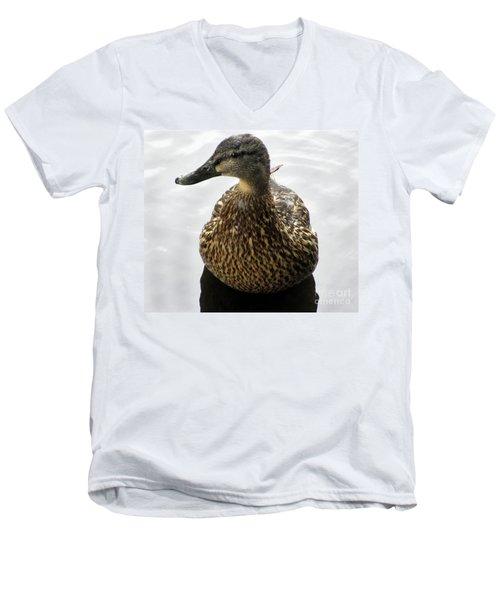 Mallard Profile Men's V-Neck T-Shirt