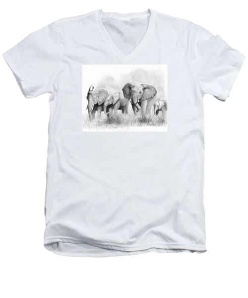 Mama Says Men's V-Neck T-Shirt by Phyllis Howard
