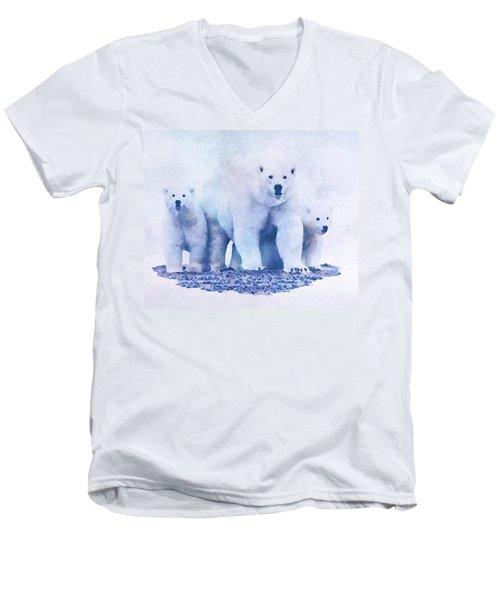 Mamma Bear  Men's V-Neck T-Shirt