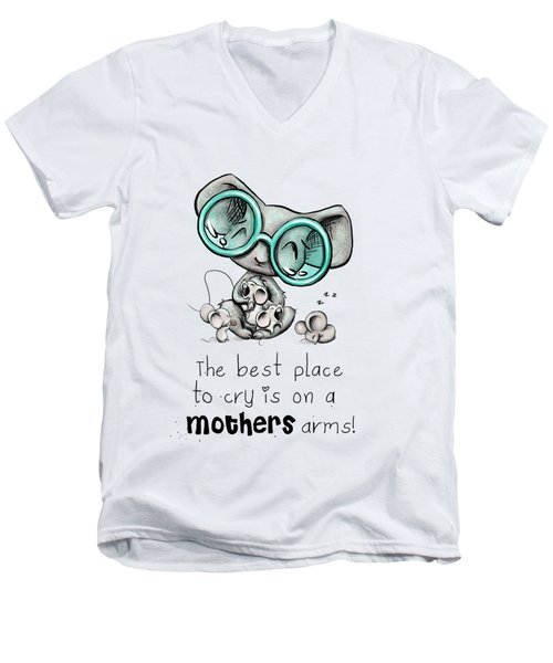 Mamma Mouse Men's V-Neck T-Shirt by Lizzy Love