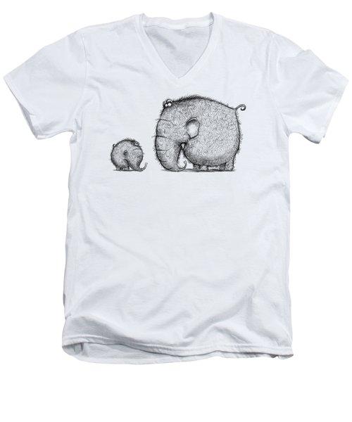 Mammothz Men's V-Neck T-Shirt by Andy Catling