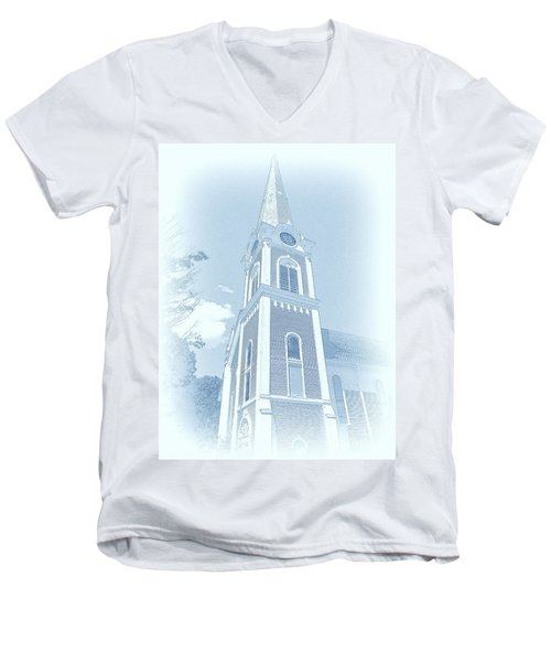 Manchester Vt Church Men's V-Neck T-Shirt