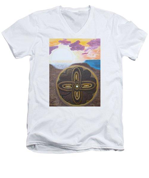 Mandala In The Sand Men's V-Neck T-Shirt