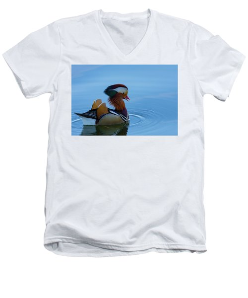 Majestic Mandarin Duck Men's V-Neck T-Shirt