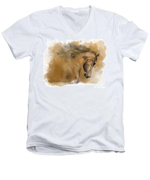 Mangalarga Marchador Men's V-Neck T-Shirt by Kathy Russell