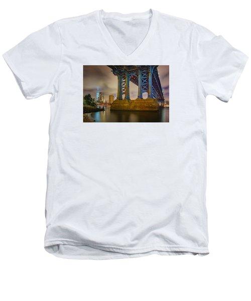 Manhattan Steel Men's V-Neck T-Shirt