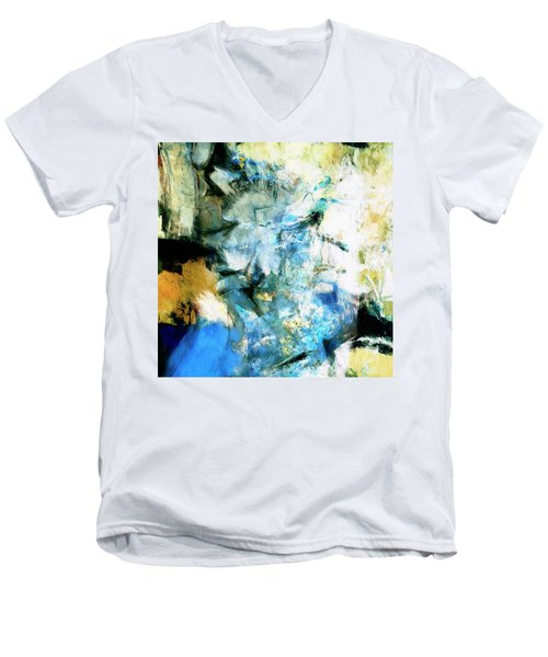 Men's V-Neck T-Shirt featuring the painting Manifestation by Dominic Piperata