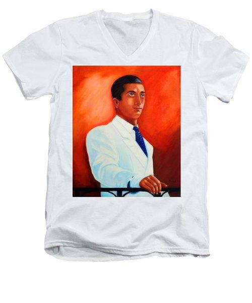 Manolete El Hombre Men's V-Neck T-Shirt by Manuel Sanchez