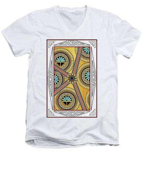 Many Circles Men's V-Neck T-Shirt