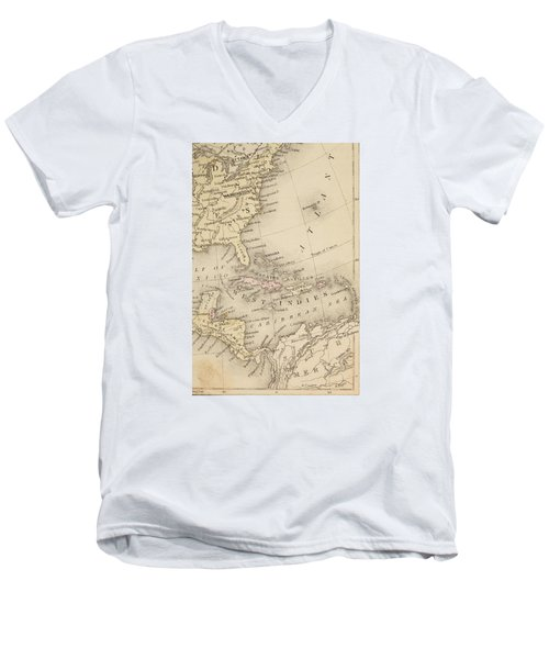 Map Men's V-Neck T-Shirt by Sample