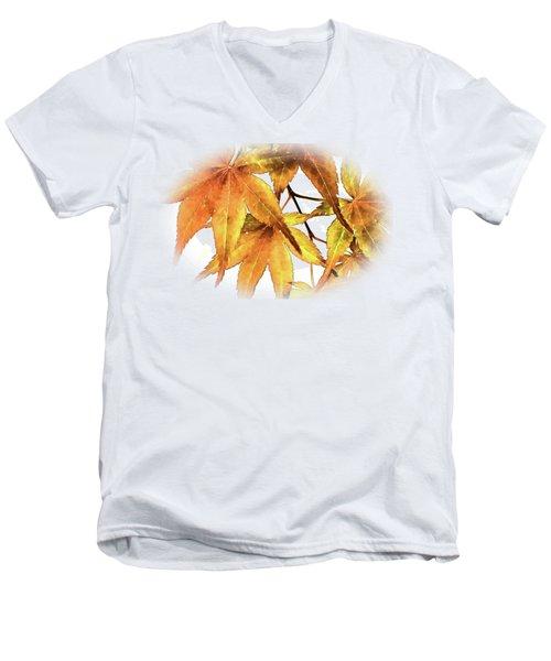 Maple Leaves Men's V-Neck T-Shirt