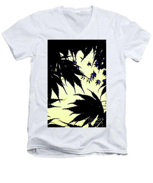 Maple Silhouette Men's V-Neck T-Shirt
