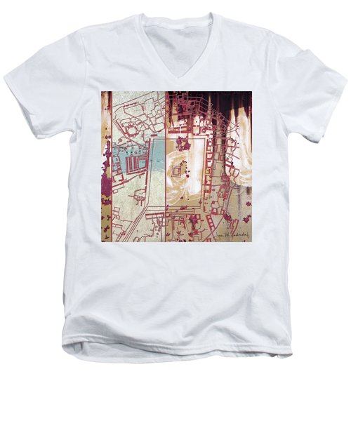 Maps #27 Men's V-Neck T-Shirt by Joan Ladendorf