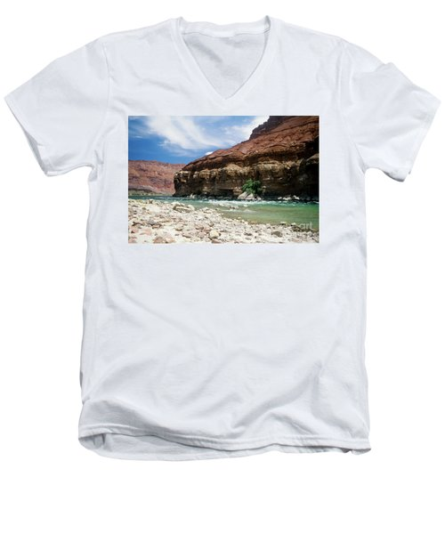Marble Canyon Men's V-Neck T-Shirt by Kathy McClure